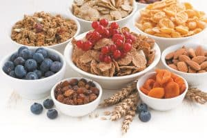 Bowls of High Fiber Foods